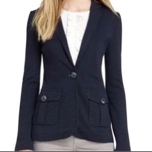 Tory Burch Seth Navy Blue Blazer